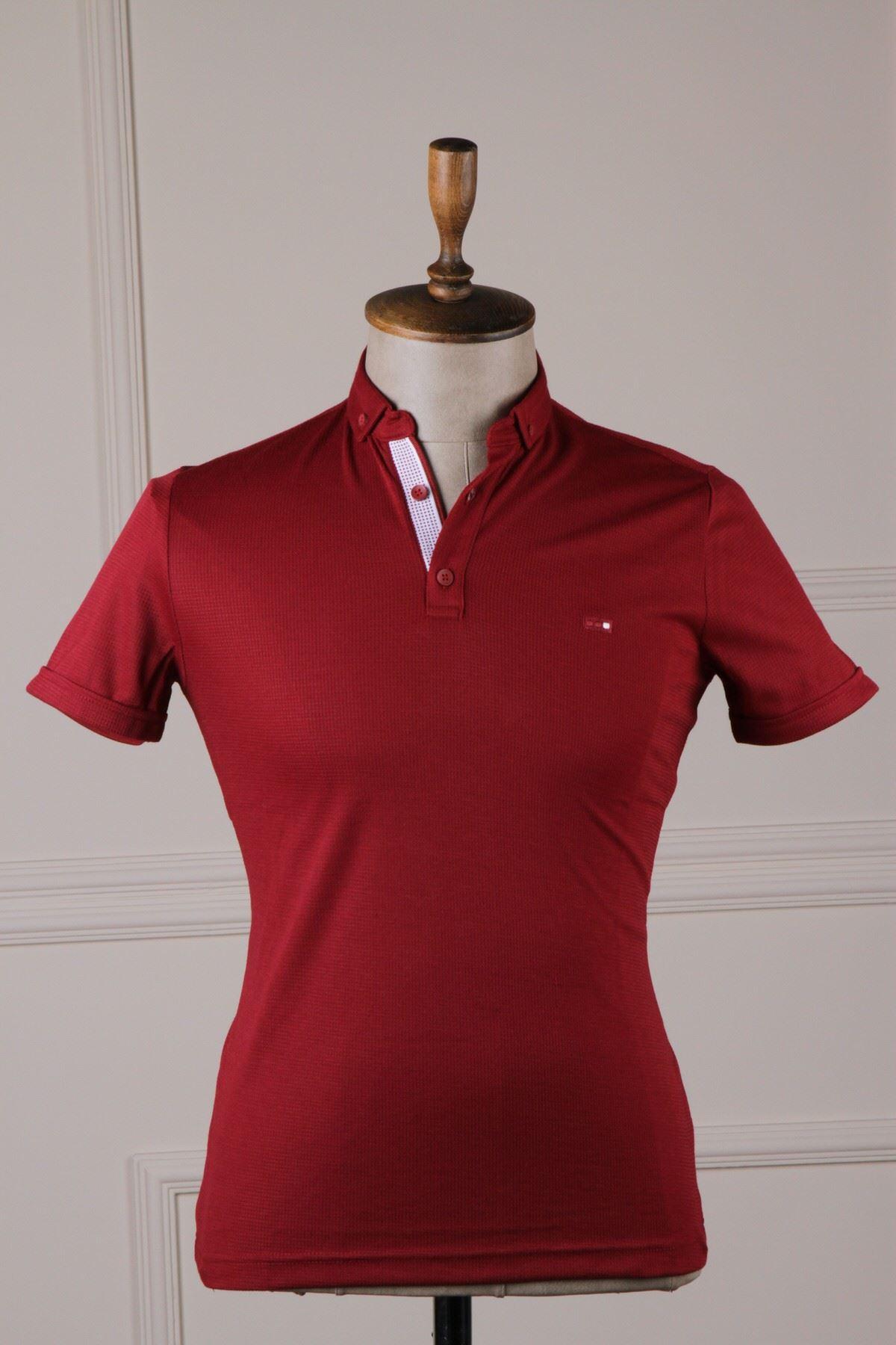 Erkek Polo Yaka T-Shirt - Kırmızı