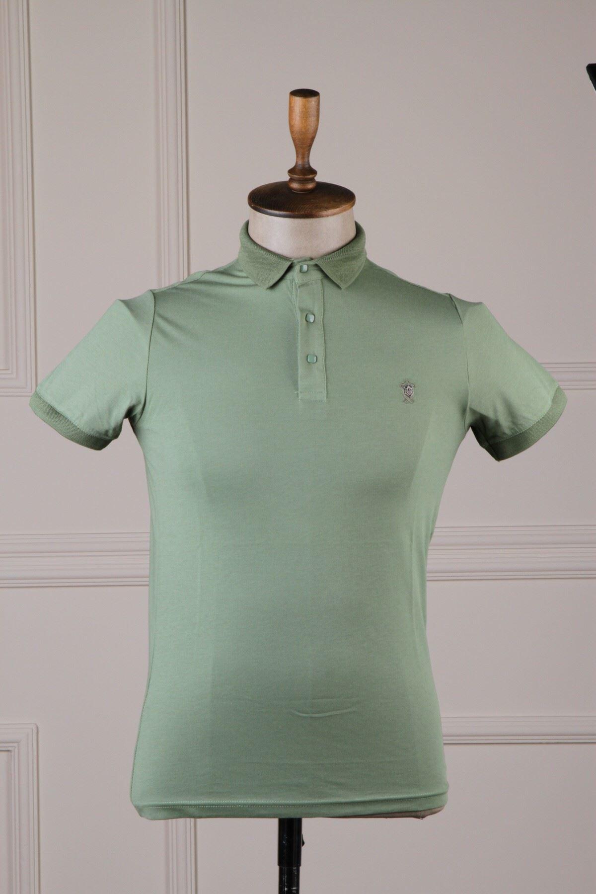 Erkek Polo Yaka T-Shirt - Fıstık Yeşili
