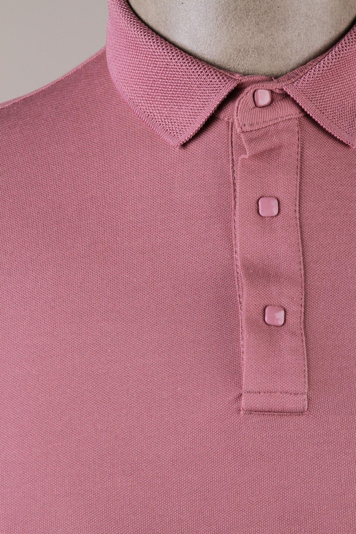 Erkek Polo Yaka T-Shirt - Gül Kurusu