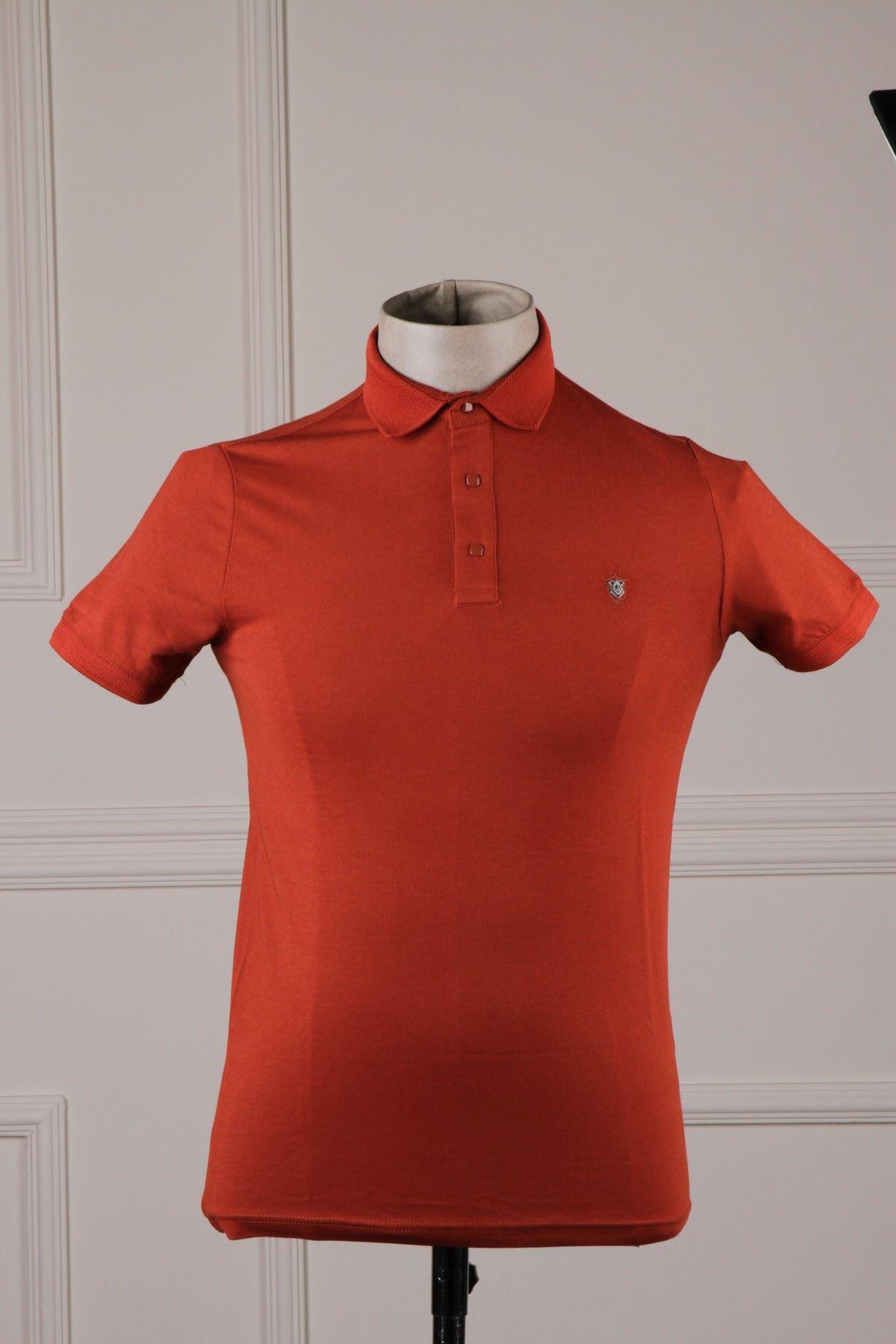 Erkek Polo Yaka T-Shirt - Kiremit