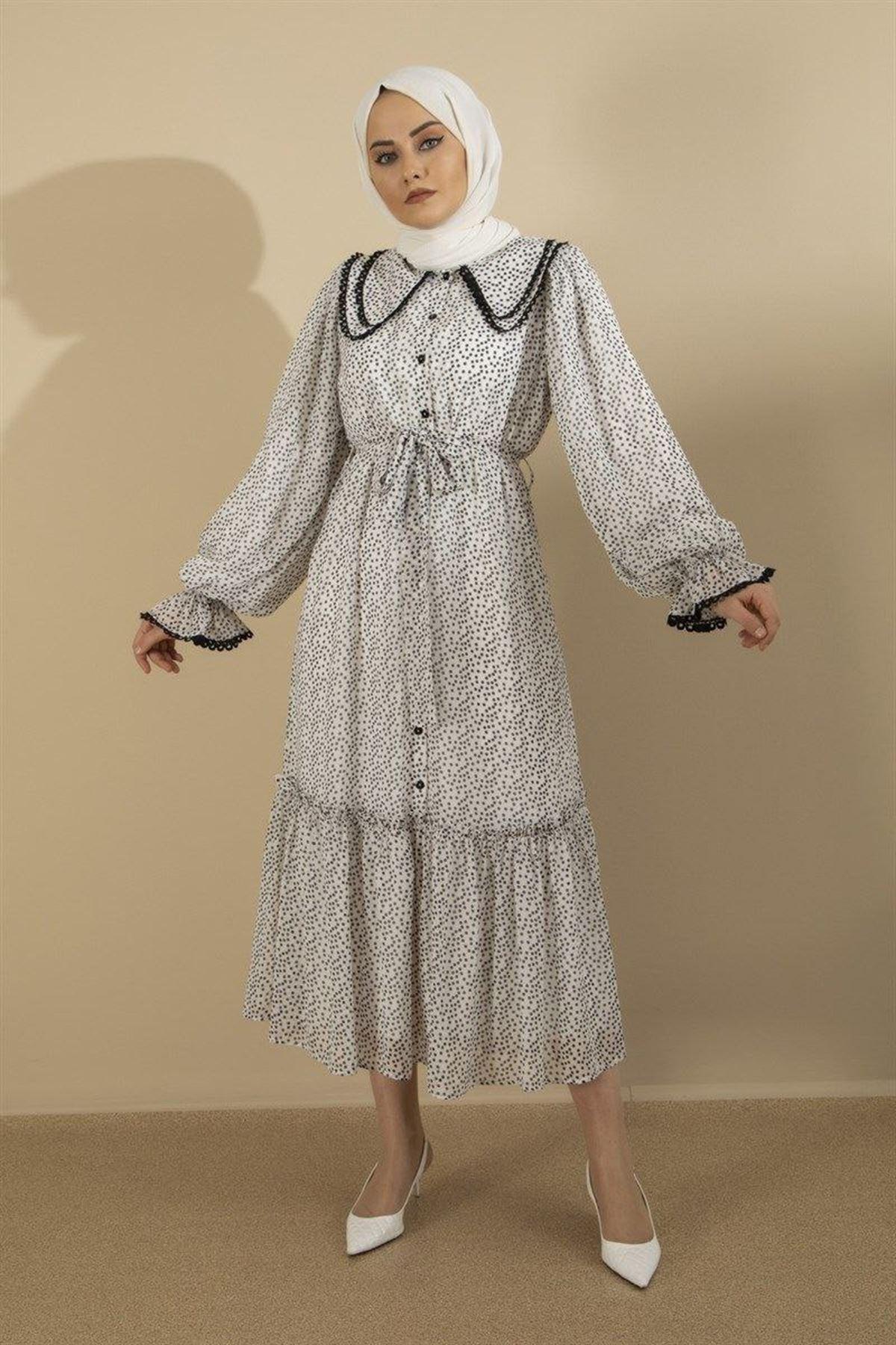 Kadın Elbise - Beyaz