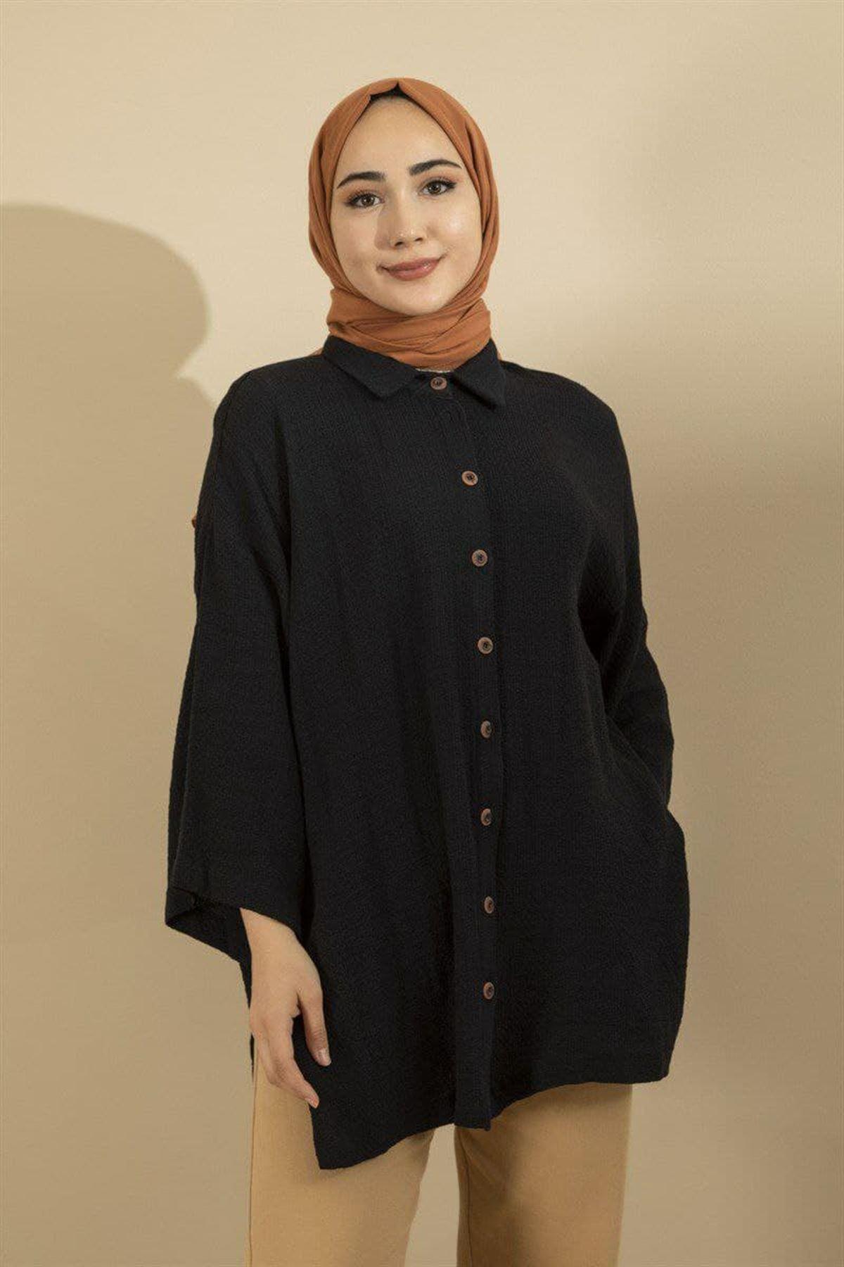 Kadın Gömlek - Siyah