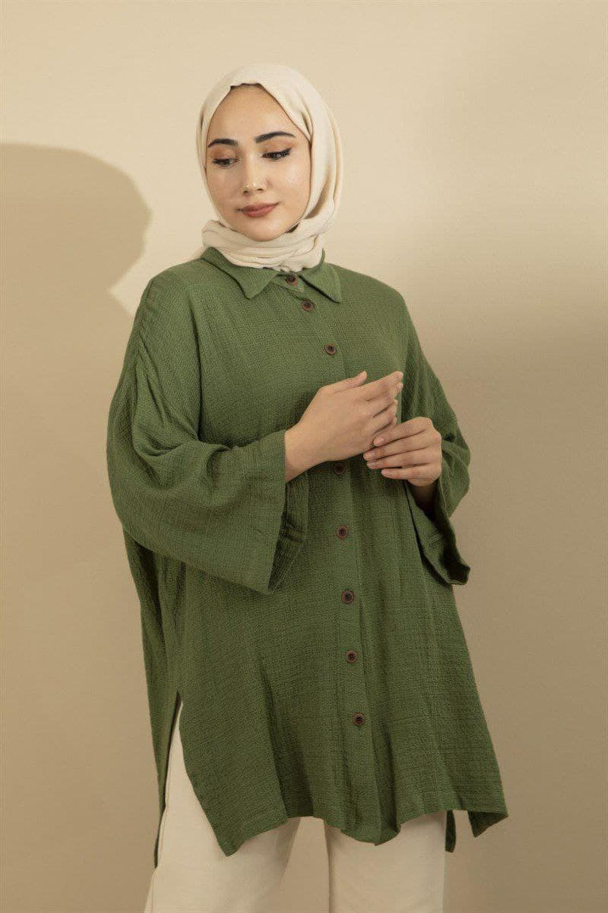 Kadın Gömlek - Yeşil