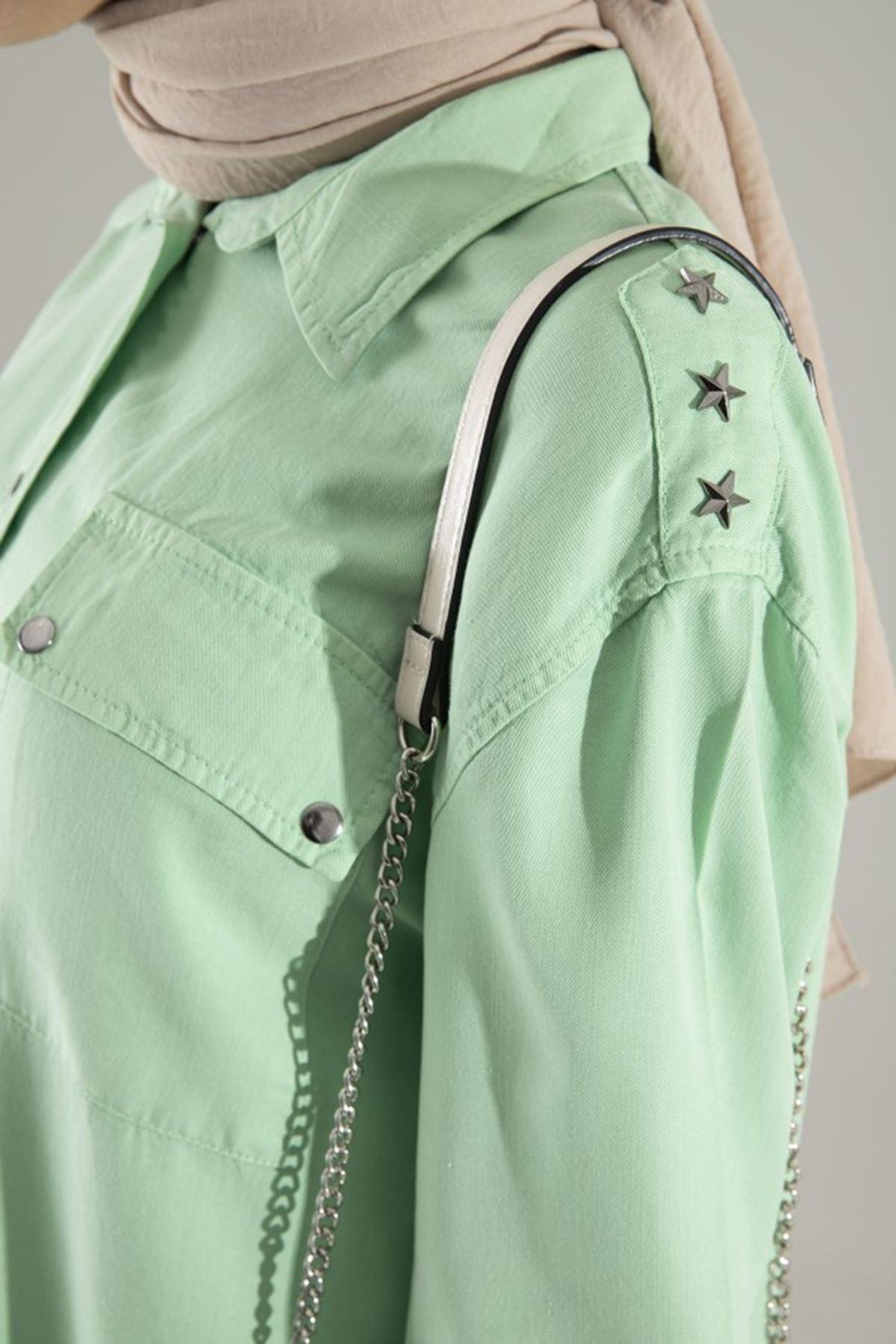 Kadın Tensel Tunik - Fıstık Yeşili