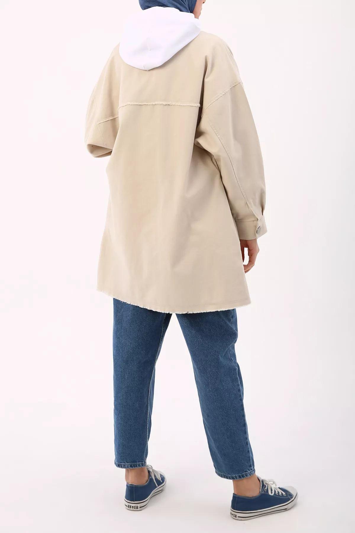 Kadın Ceket - Kum Beji