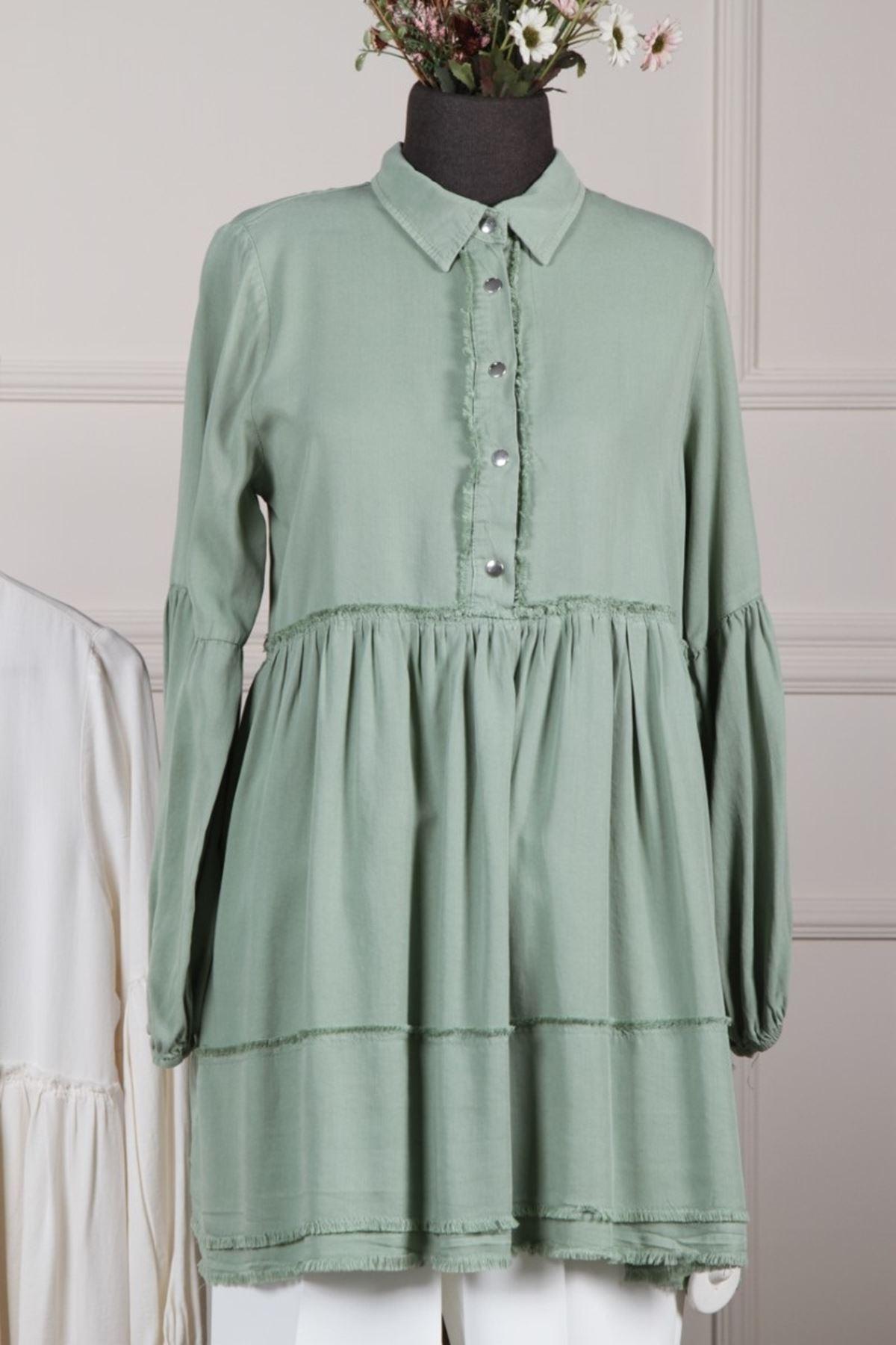 Kadın Tensel Tunik - Açık Yeşil