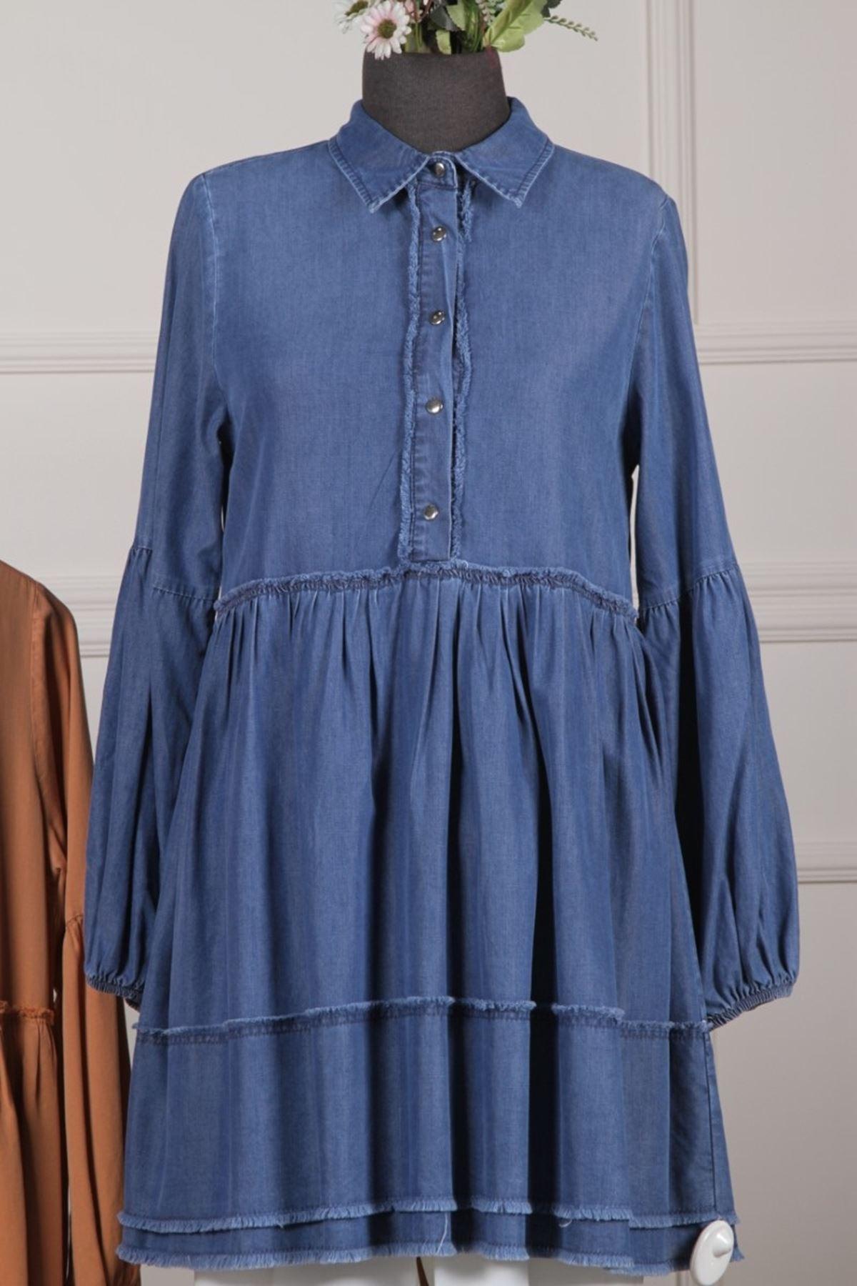 Kadın Tensel Tunik - Mavi