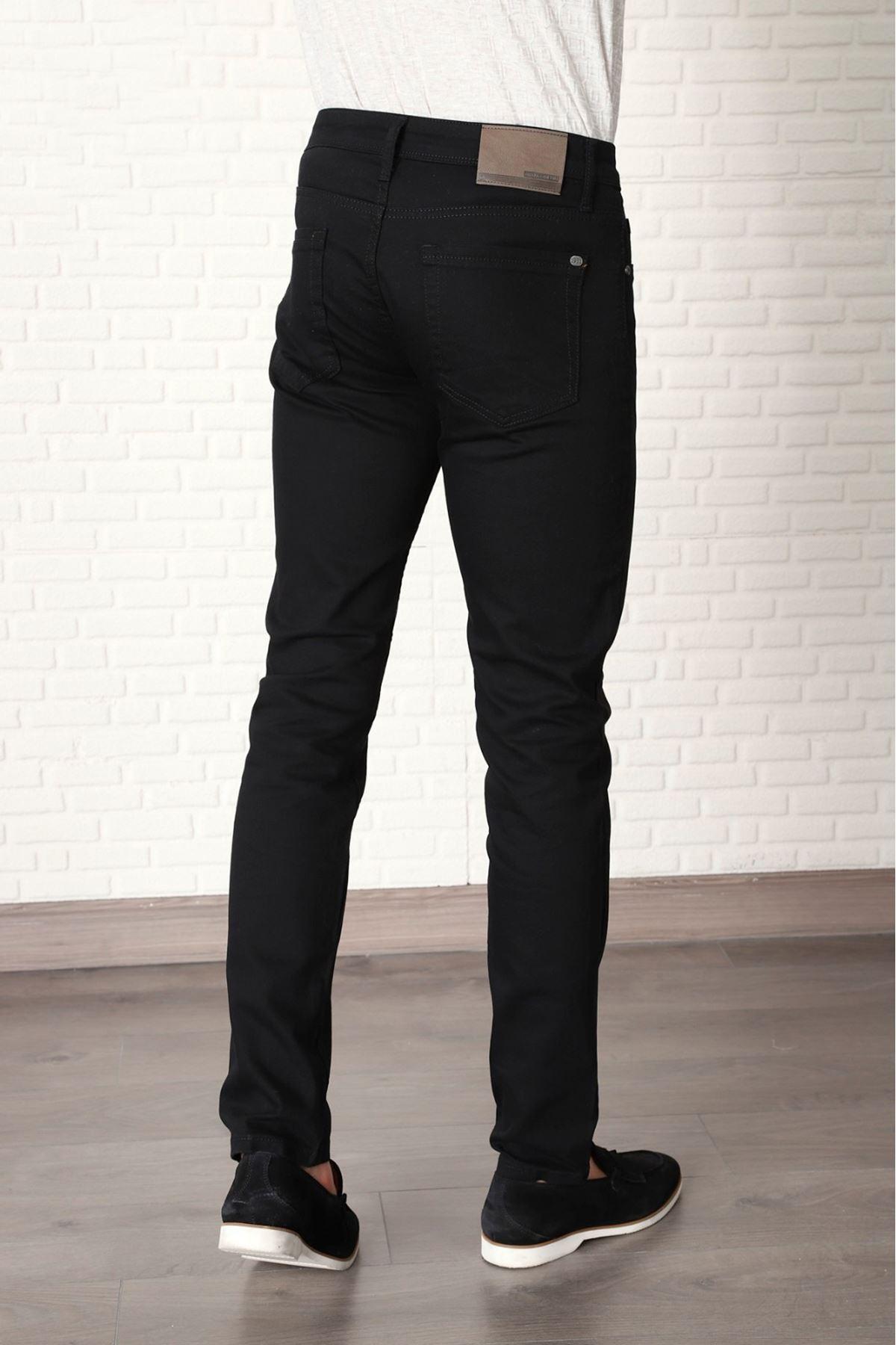 Erkek Keten Pantolon-siyah