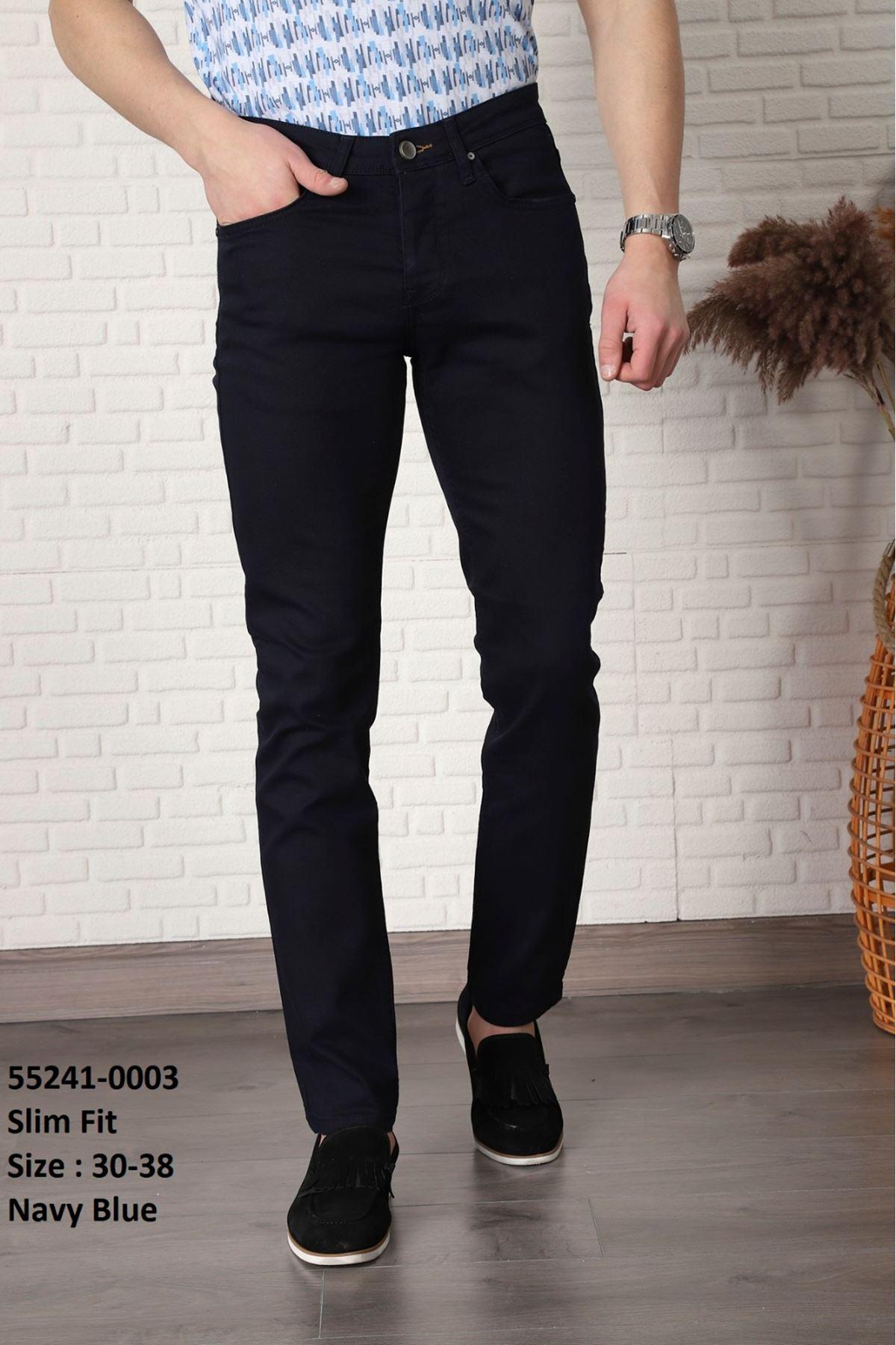 Erkek Keten Pantolon-lacivert