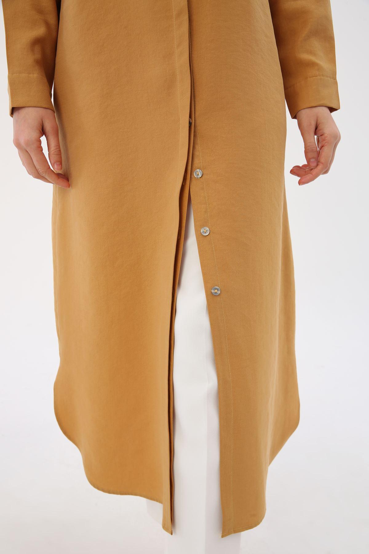 Kadın Uzun Tensel Tunik-sarı