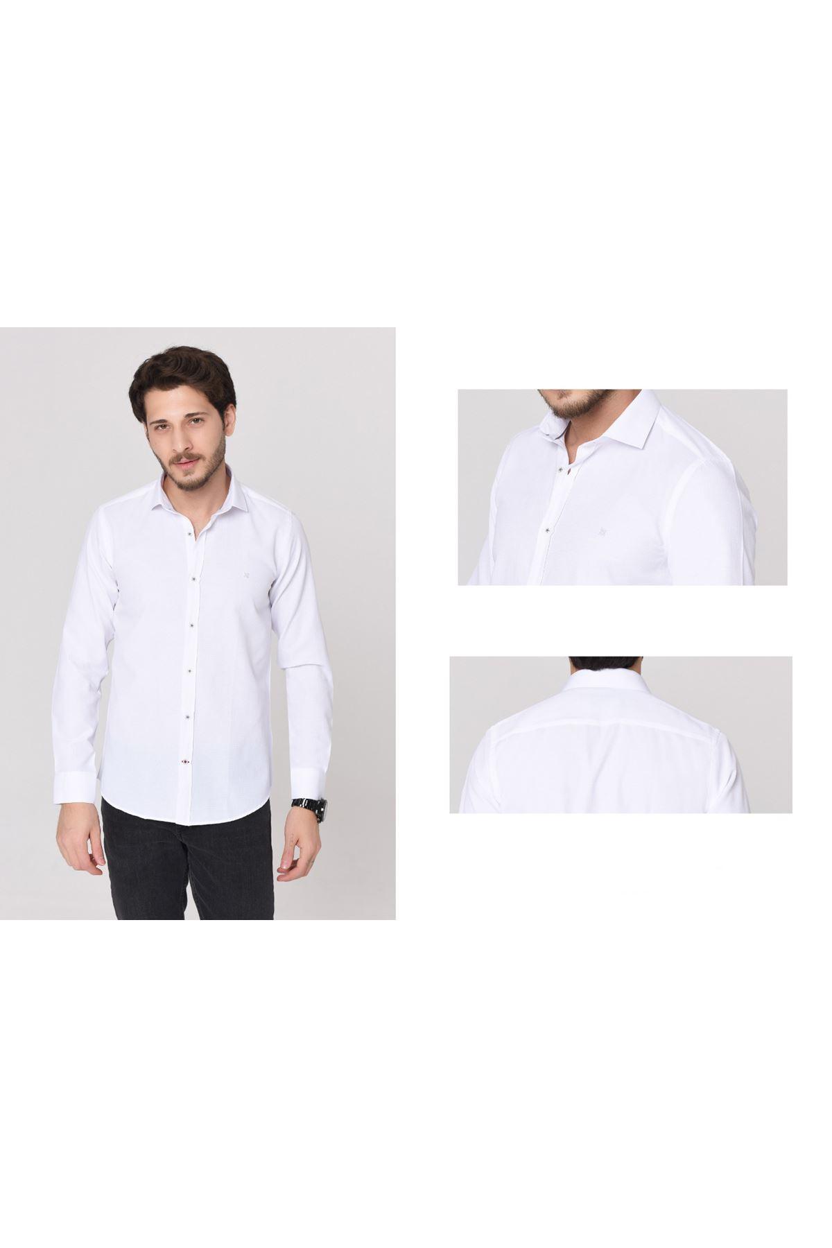 Erkek Klasik Gömlek-beyaz