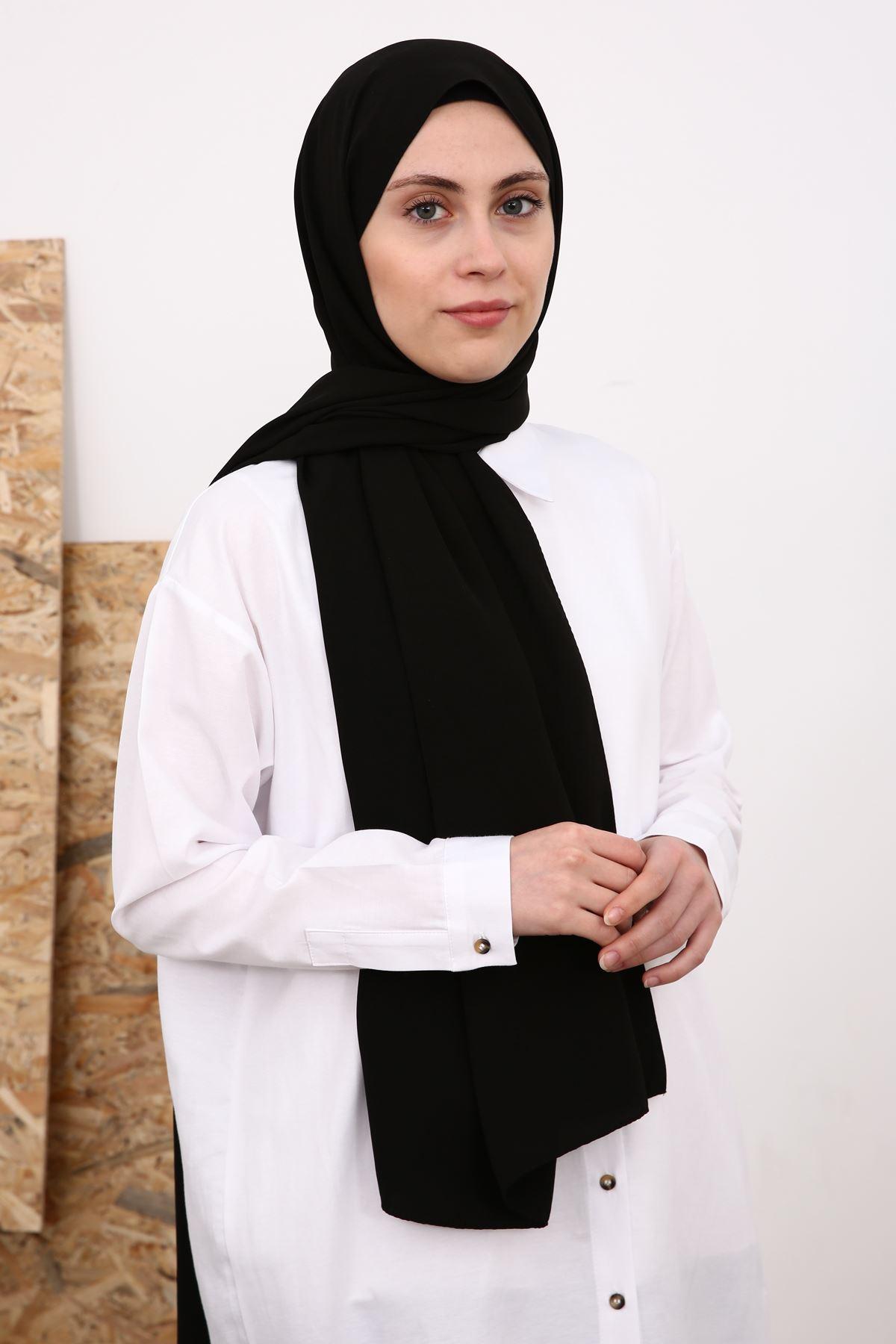 Medine İpek  Şal-siyah
