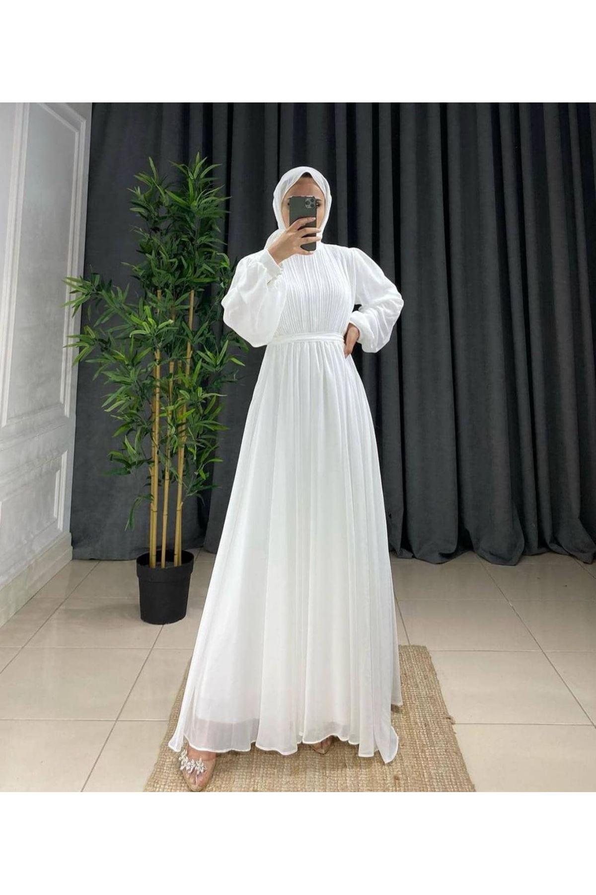 Kadın Elbise-beyaz