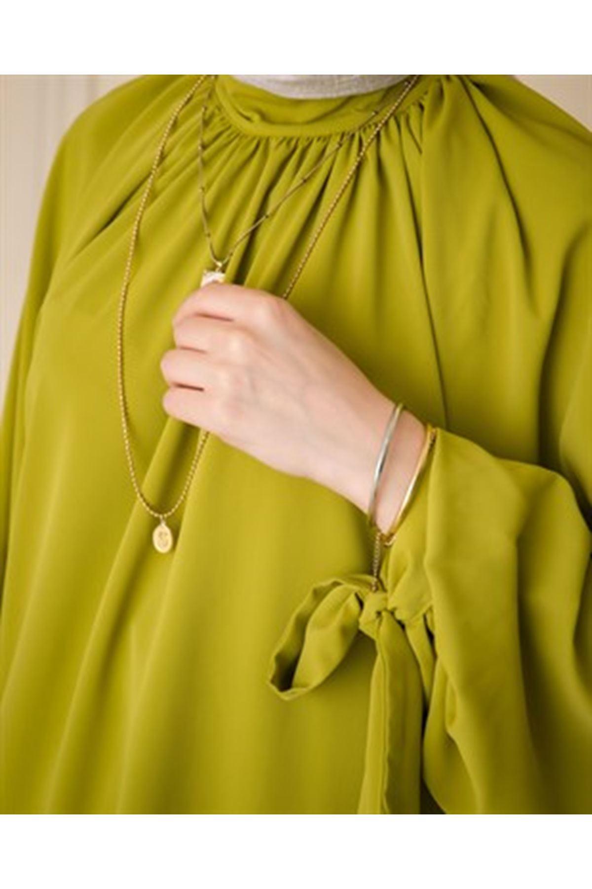 Kadın Pantolonlu Takım-Yağ yeşili