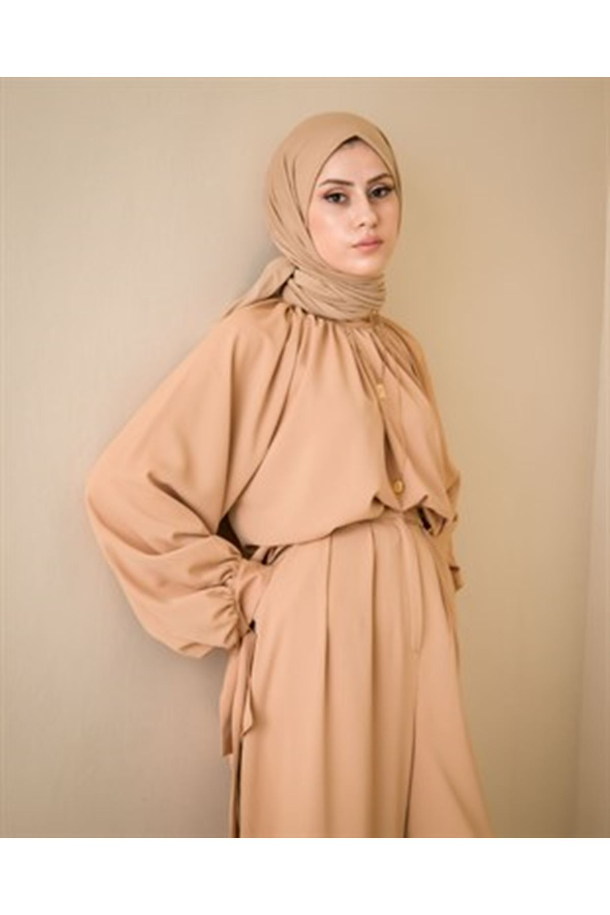 Kadın Pantolonlu Takım-camel