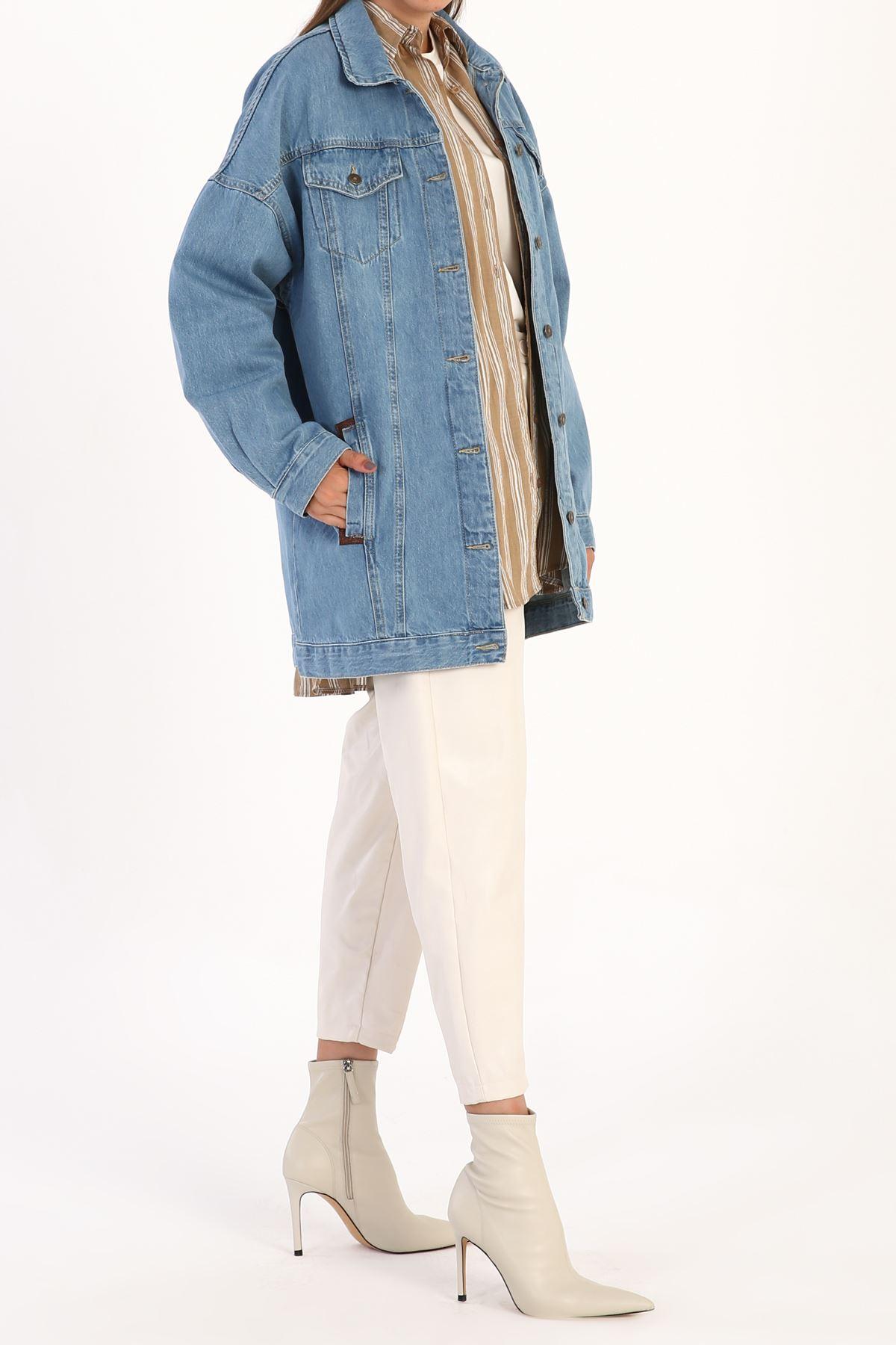 Kadın Kot Ceket-mavi