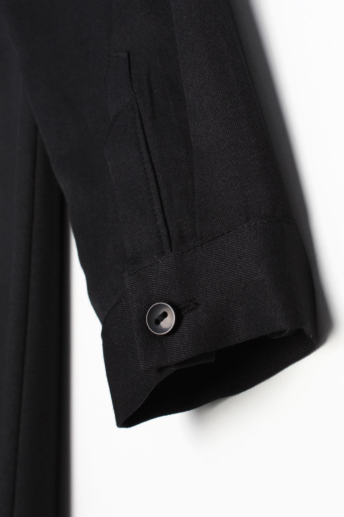 Gizli Patlı kadın Gömlek Tunik-siyah
