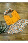 Baby Tuğra Kız Bebek Salopet Elbise - Oranj